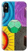 Five Platonic Solids - Fire IPhone Case
