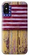 Flag On Old Yellow Door IPhone Case