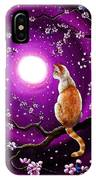 Flame Point Siamese Cat In Dancing Cherry Blossoms IPhone Case