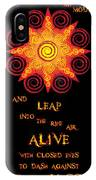 Flaming Celtic Sun IPhone Case