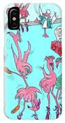 Flamingo A Go Go IPhone Case