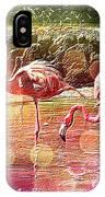 Flamingo Art IPhone Case