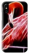 Flamingo Portrait Fractal IPhone Case