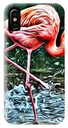 Flamingo Splash Two IPhone Case