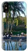 Flamingo Watering Hole IPhone Case