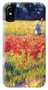 Flanders Fields Where Soldiers Sleep And Poppies Grow IPhone Case