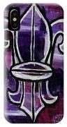 Fleur De Lis Purple Abstract IPhone Case
