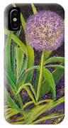 Fleur D Allium With Iris Leaves Backup IPhone Case