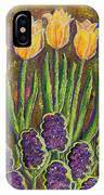Fleurs D' Tulips And Hyacinths IPhone Case