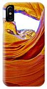 Flexibility Rock In Lower Antelope Canyon Near Page-arizona  IPhone Case