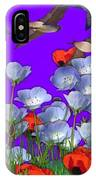 Flight Over Poppies IPhone Case