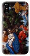 Flight To Egypt With Angels IPhone Case