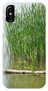 Floating Log In A Marsh IPhone Case
