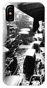 Floating Markets In Black And White IPhone Case