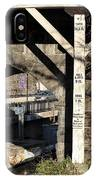 Flood Height Sign At Ellicott City Maryland IPhone Case