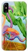 Floosie Flamingos IPhone Case