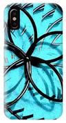 Flor Azul IPhone Case