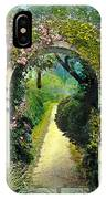 Floral Arch And Path IPhone Case