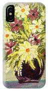 Floral Delight Acrylic Painting IPhone Case