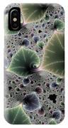 Floral Fractal Artwork Green Blue Pink Digital Leaves IPhone Case