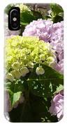 Floral Pink Lavender Hydrangea Garden Art Prints IPhone Case