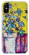 Floral Still Life Blue Hues IPhone Case