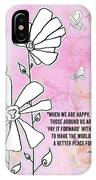 Floral Typography Word Art Quote Flowers And Butterflies By Megan Duncanson IPhone Case