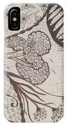 Floral Zen Tangle  IPhone Case
