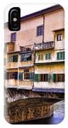 Florence Italy Ponte Vecchio IPhone Case