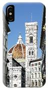 Florence Italy Santa Maria Fiori Duomo IPhone Case