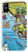 Florida Cartoon Map IPhone Case