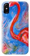 Florida Pink Flamingo - Modern Impressionist Art IPhone Case