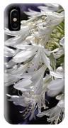 Flower-agapanthus-white-flora IPhone Case