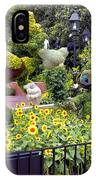 Flower And Garden Signage Walt Disney World IPhone Case