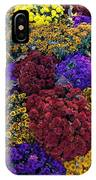 Flower Bed Across The Street From The Grand Palais Off Of Champs Elysees  IPhone Case