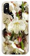 Flower Bunch Bush White Cream Strands Sensual Exotic Valentine's Day Gifts IPhone Case