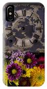 Flower Clock IPhone Case