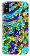 Flower Fight Abstract IPhone Case