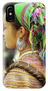 Flower Hmong Woman IPhone Case