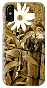 Flower In Sepia IPhone Case