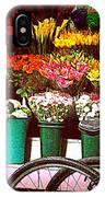 Flower Market With Bike IPhone Case