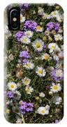 Flower Mix - Purple And White IPhone Case