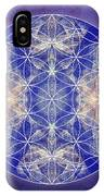 Flower Of Life Blue IPhone Case