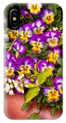 Flower - Pansy - Purple Posies  IPhone Case