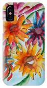 Flower Splash IPhone Case