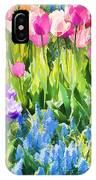 Flower Splash I IPhone Case