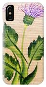 Flowering Thistle IPhone Case