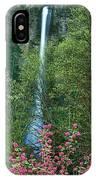 Flowering Tree Below Multnomah Falls Columbia River Gorge Nsa Oregon IPhone Case