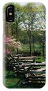 Flowering Trees In Bloom Along Fence IPhone Case