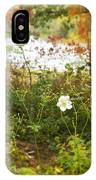 Flowers Along The River In Fall IPhone Case